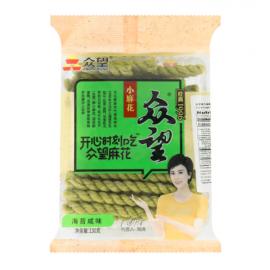 众望小麻花 海苔咸味 130G