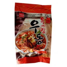 韩国热销WANG 香辣牛肉汤手打乌冬面 430G