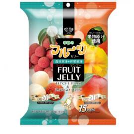 台湾热销皇族 天然果汁果冻 荔枝芒果混合口味 实惠装 300G