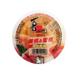 喜之郎 果肉果冻 黄桃和蜜桃果肉单杯装200G