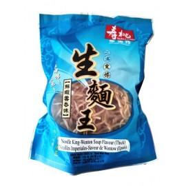 香港寿桃牌非油炸上汤宽条生面王 鲜虾云吞味 130G