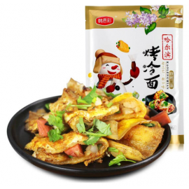 韩恩彩哈尔冰烤冷面  烧烤口味 390G