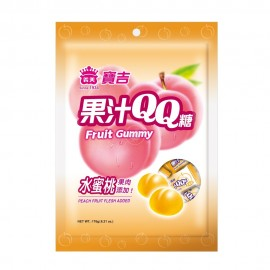 台湾热销义美宝吉果汁QQ糖 水蜜桃味 88G