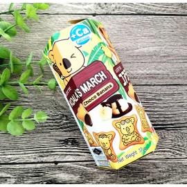 乐天新品香蕉朱古力小熊饼 37G