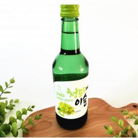(卖光啦)韩国销量第一 JINRO真露果味烧酒 青葡萄味 13% 350ML