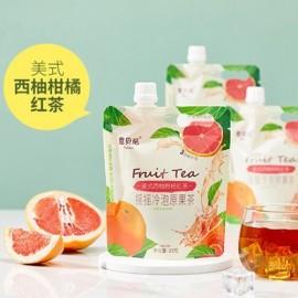 意贝尼网红摇摇冷泡原果茶 美式西柚柑桔红茶 23G