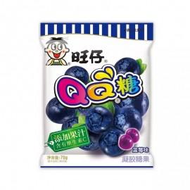 (卖光啦)旺仔QQ糖 蓝莓味 70G