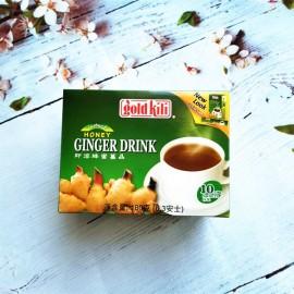 新加坡GOLDKILI 即溶蜂蜜姜晶 18G×10包入