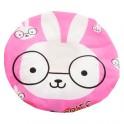 可爱居家 时尚萌系卡通带蕾丝边防水浴帽 可爱小兔图案