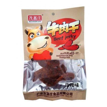 广东特色零食茂嘉庄牛肉干 香辣味 45G
