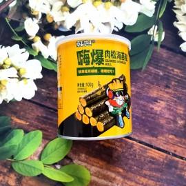 韩世嗨爆肉松海苔卷 罐装 100G