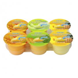 马来西亚热销COCON椰果布丁 混合口味6杯实惠装 708G