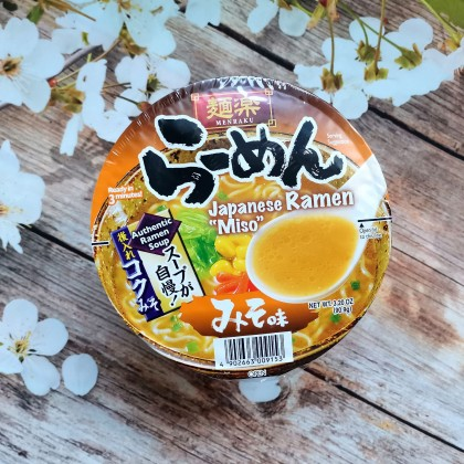 日本MENRAKU面乐 日式味噌拉面 杯面装 90G