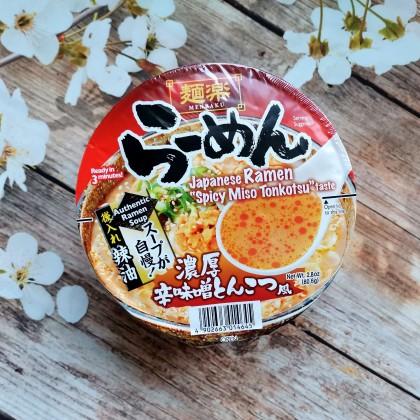 日本MENRAKU面乐 日式豚骨辣味噌拉面 杯面装 80G