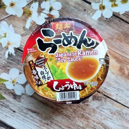 日本MENRAKU面乐 日式酱油拉面 杯面装 76G