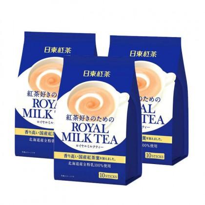 日本原产皇家奶茶 日东红茶袋装 10包入 140G