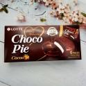韩国热销LOTTE乐天黑巧克力派 6枚装 168G