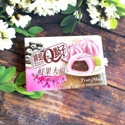 宝岛Q点子鲜果大福麻糬 蓝莓味 210G