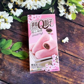 台湾热销宝岛Q点子捲心麻糬 樱花红豆 盒装 150G
