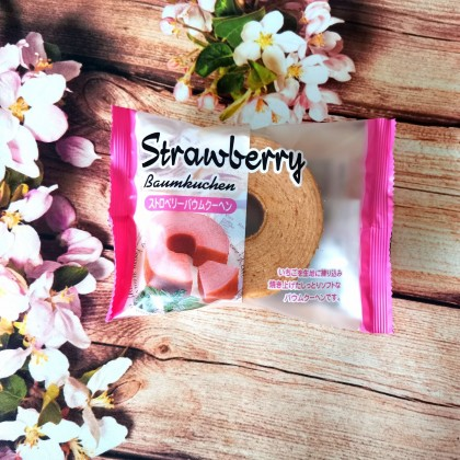 日本热销TAIYO FOODS 太阳草莓年轮蛋糕 迷你装 80G