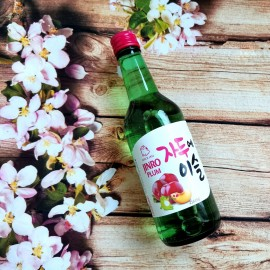 韩国销量第一 JINRO真露果味烧酒 水蜜桃味 13% 350ML