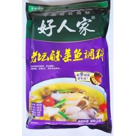 (好人家混合买6送1→赠送油焖小龙虾)好人家 老坛酸菜鱼调料 经典装360G