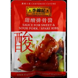 (卖光啦)李锦记甜酸排骨酱80G