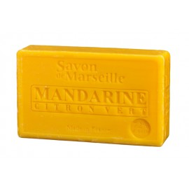 SAVON DE MARSEILLE 100G-MANDARINE CITRON VERT