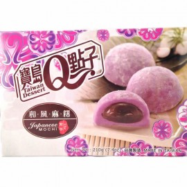 (卖光啦)台湾宝岛Q点子和风麻糬  紫芋口味 210G