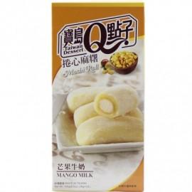 台湾宝岛Q点子捲心麻糬芒果牛奶味 精美盒装150G