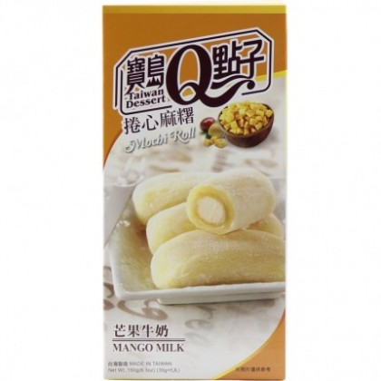台湾宝岛Q点子卷心麻糬芒果牛奶味 精美盒装150G