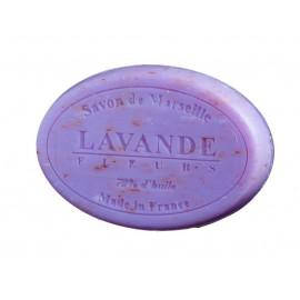 SAVON DE MARSEILLE OVAL 100G-FLEUR DE LAVANDE