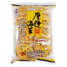 台湾原产旺旺厚烧海苔饼160G