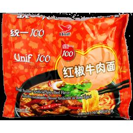 统一100牌 红椒牛肉面108G