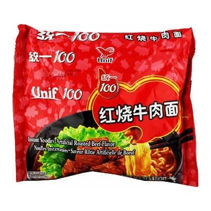 统一100-红烧牛肉面 108G