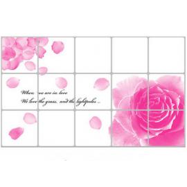 厨房防油耐高温贴纸 75*45CM 玫瑰花瓣