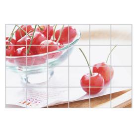 厨房防油耐高温贴纸 大号90*60CM  樱桃