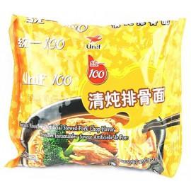 (卖光啦)统一100牌 清炖排骨面 105G