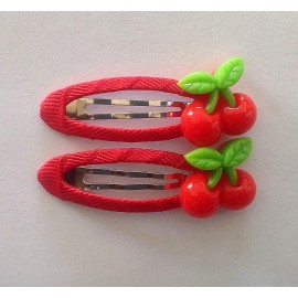儿童发饰品DIY 可爱刘海BB夹 红色小樱桃发卡