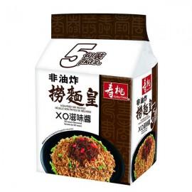 (卖光啦)香港寿桃牌 捞面皇 XO滋味 5*90G