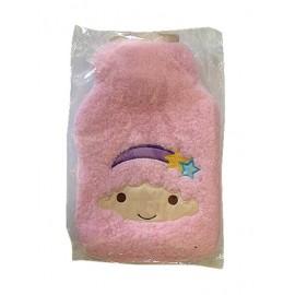 暖手宝 热水袋 毛绒粉红套