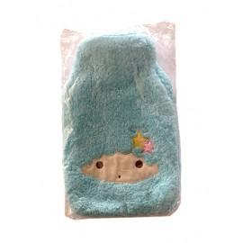 暖手宝 热水袋 毛绒天蓝套