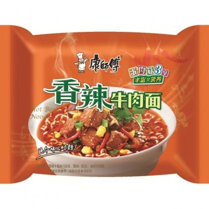 康师傅 香辣牛肉面 101G