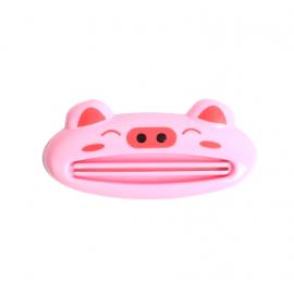 创意可爱卡通手动挤牙膏器  粉色小猪