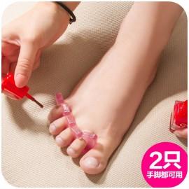 美甲专用 优质软胶分趾器 涂甲油 柔软分指器 可重复使用