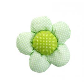 生活居家 布艺花朵窗帘扣捆绑扎花 浅绿圆点太阳花 2朵