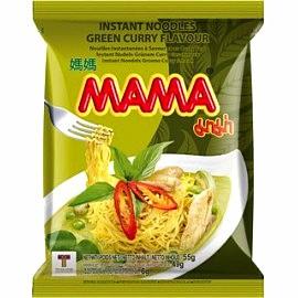 全球排名第十泰国原产 MAMA牌泰式绿咖喱鸡味面 55G
