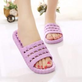 生活居家 防滑洗澡漏水软底紫色拖鞋 适合40-41尺码