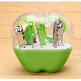 可爱果绿苹果型  美甲修甲9件套装 不锈钢指甲剪钳