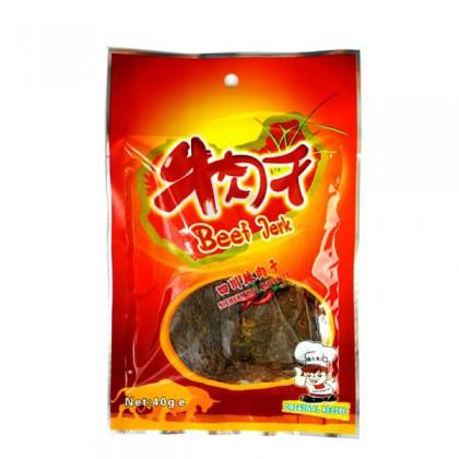 四川辣牛肉干 40G